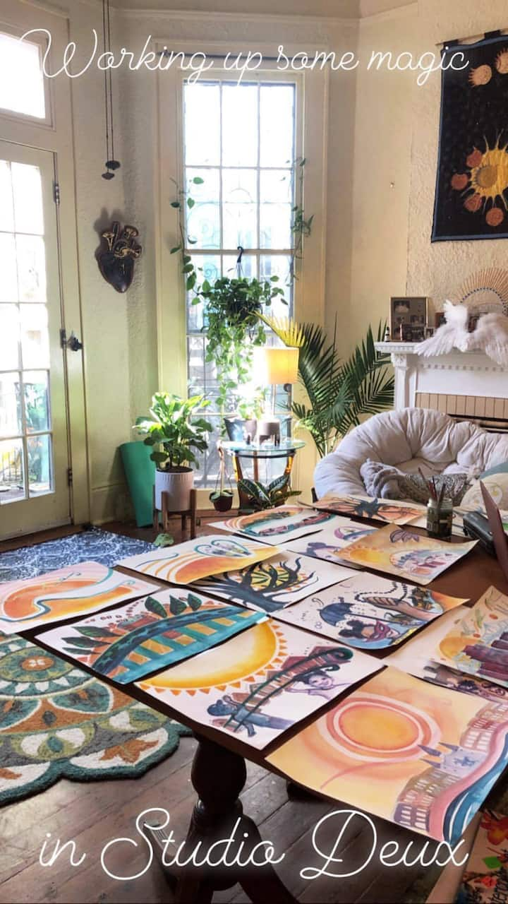 Garden Goddess Palace in the Treme, w/ Art Studio!