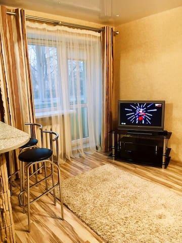 Квартира студия с камином в центре Минска
