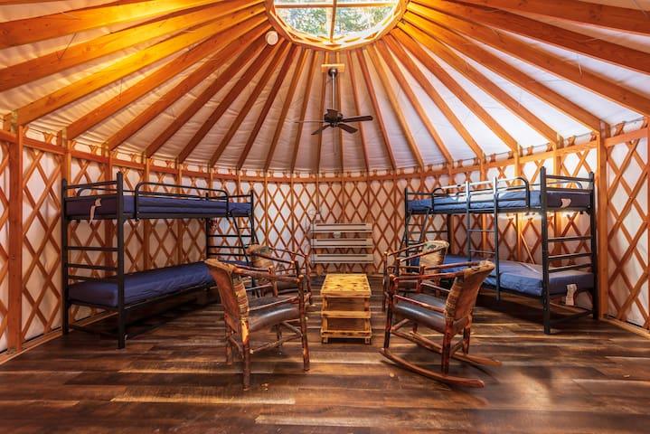 Camping Yurt in the Adirondack High Peaks