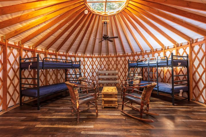 Camping Yurt in the Adirondack High Peaks