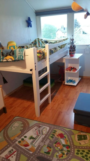 Children's room. Bunkbed and toys