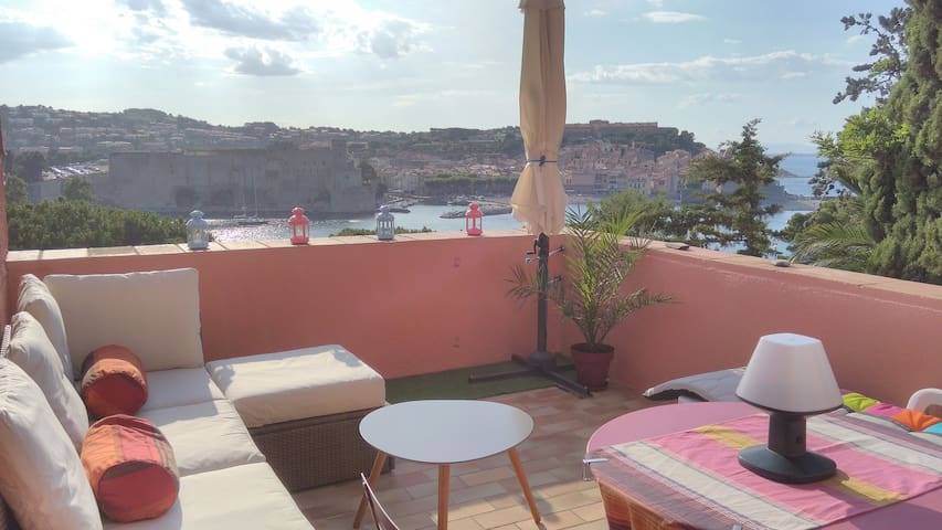 Unique location ! Studio with sea view! Garage ! - Collioure - Appartamento