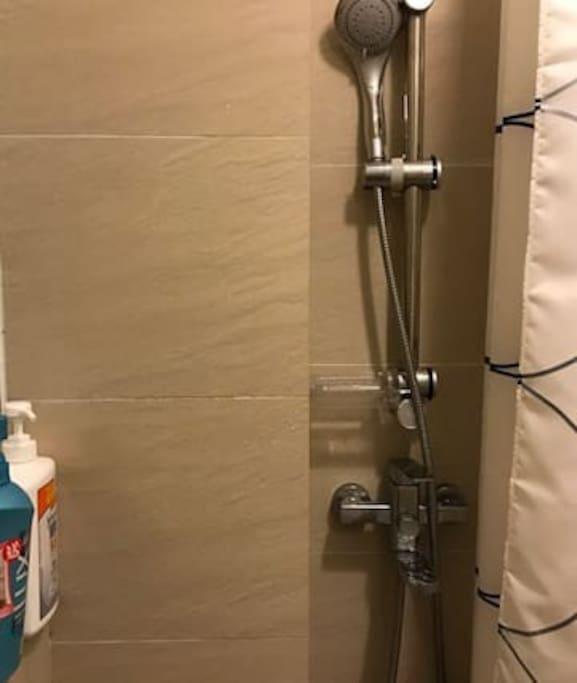 Spacious toilet & bathroom