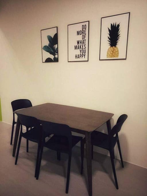Dining area ( we provide extra folding table and extra chair too )