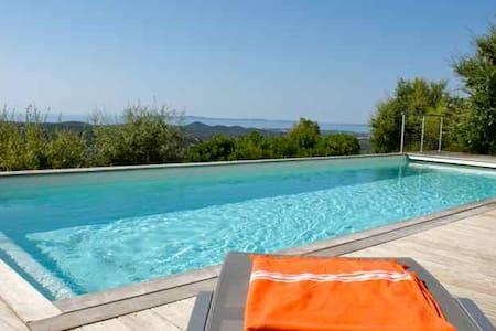 Mas Jean Bart, 5* Luxe, 300m2, Sea view, Pool - La Londe-les-Maures