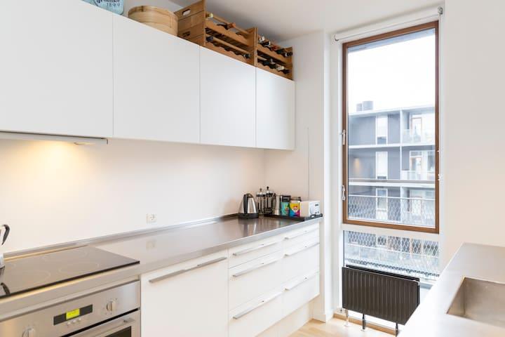 Waterfront, 2 bikes, sunny balcony - København - Apartment