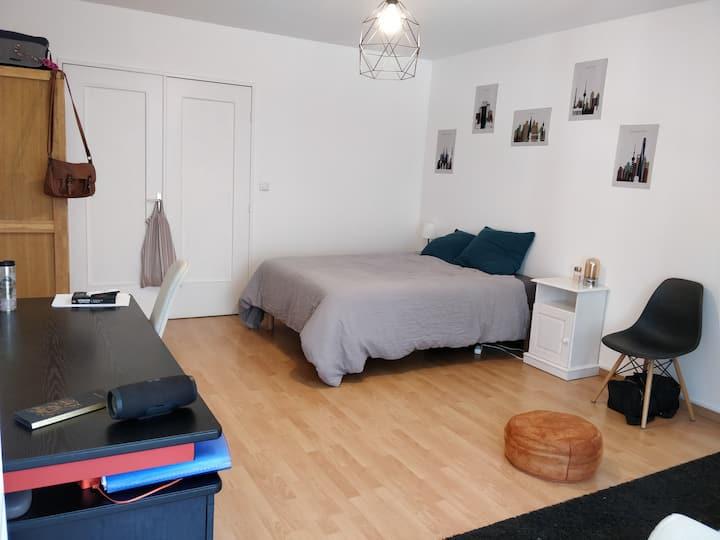 Chambre calme 20m²/balcon Charpennes /Tête d'or