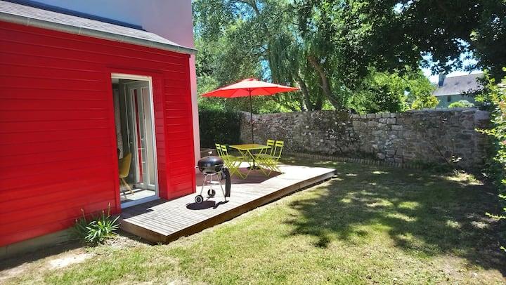 Maison jardin clos, vélos, wifi, plage du Prieuré.