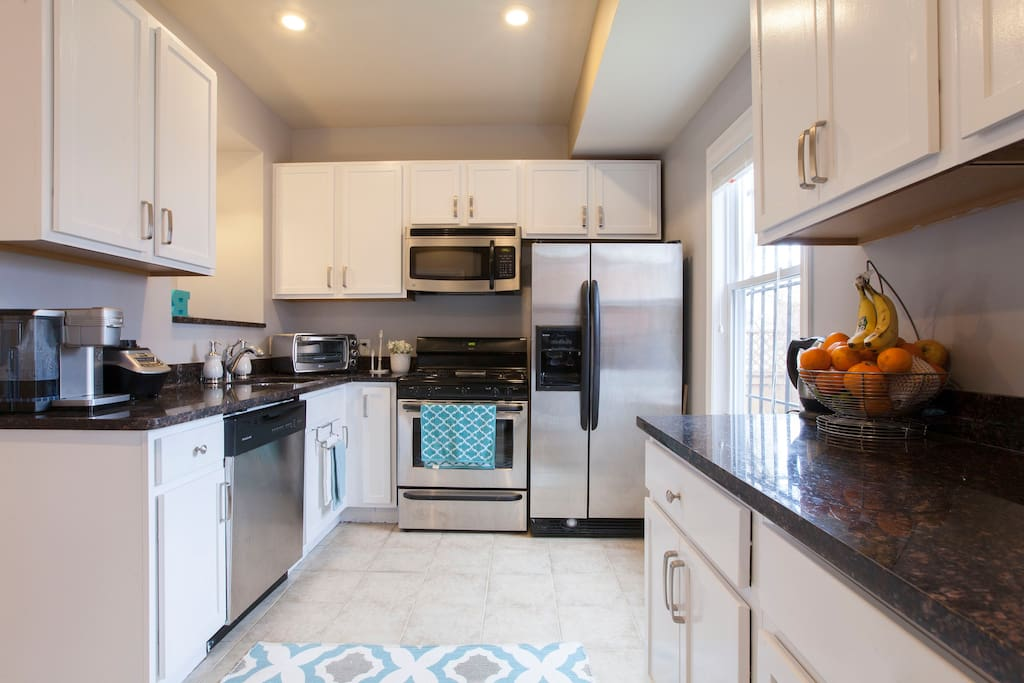 large and bright kitchen for guest to cook their favorite meals
