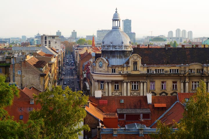 Our street - view from the upper town (old part of Zagreb)