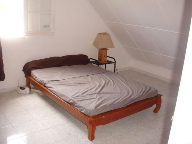 Grande chambre dans un petit parc exotique - Etang-Salé les Hauts