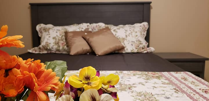 Tulips cozy BR+WR+Parking near Airport