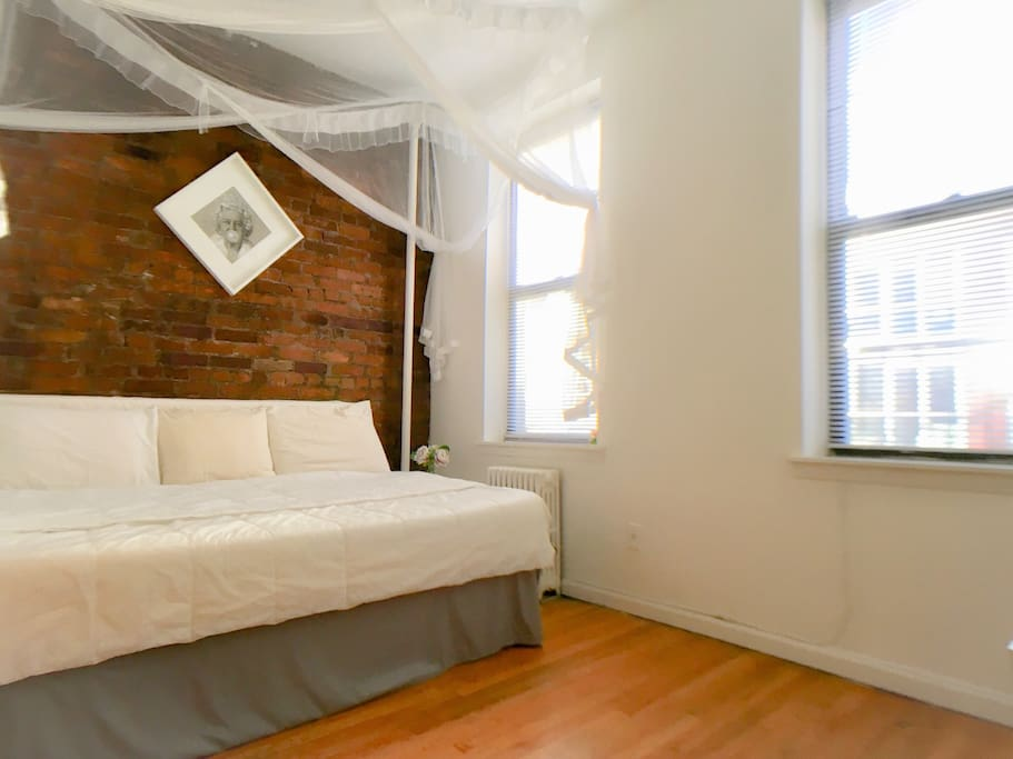 Bedroom. High quality comfortable mattress.