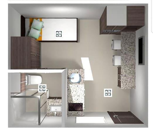 Apartamento Moderno, Céntrico  y Practico