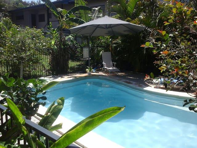 Sparkling pool.
