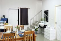 1-st floor have enought place for dinning and cooking