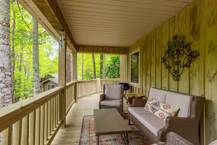 Front porch with ample seating area.