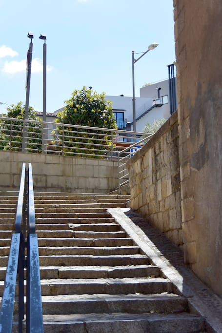 Steps from the old city