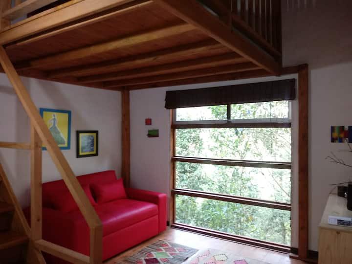 Habitaciòn con Altillo en Casa Eco-Lógica