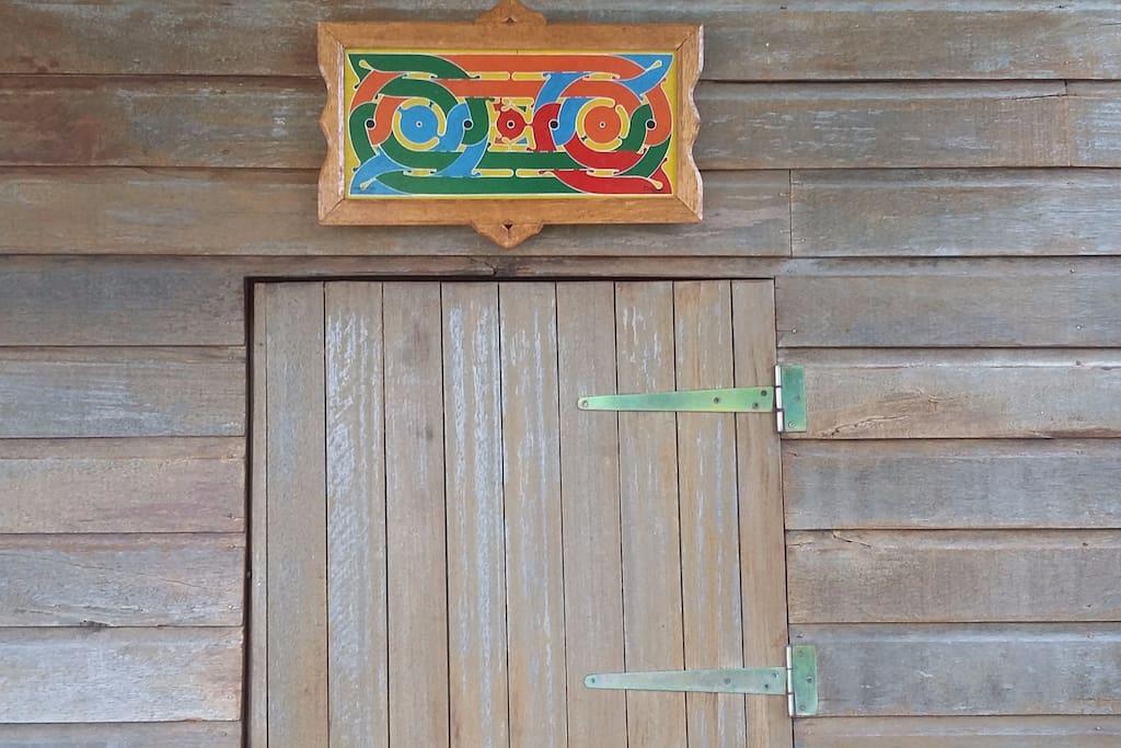 Tableau d'Art Tembé, culture de Guyane