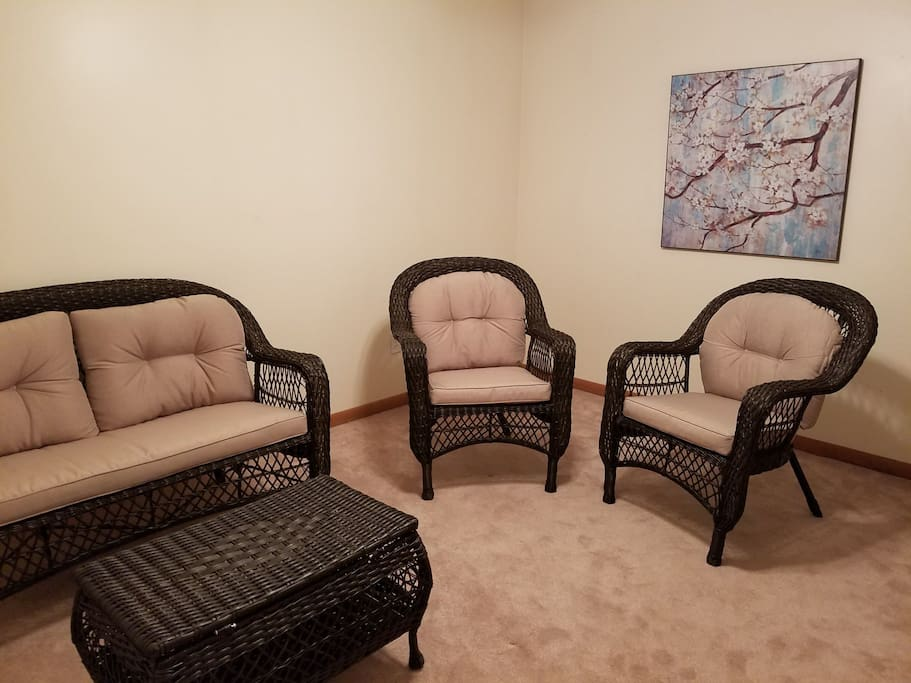 Sitting room - comfortable seating with TV and DVD player