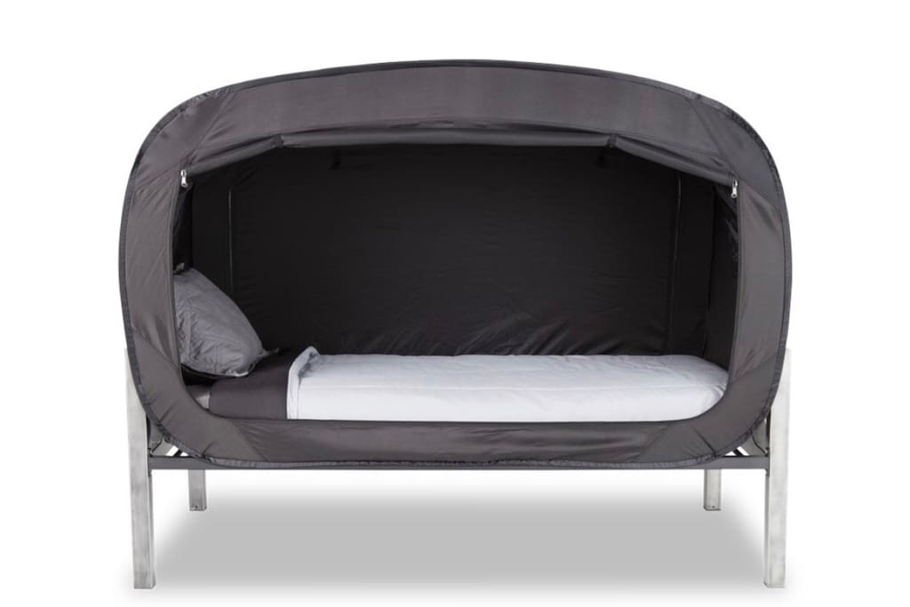 PRIVACY POP IS AVAILABLE IN A SHARED ROOM. BED TENT. :)
