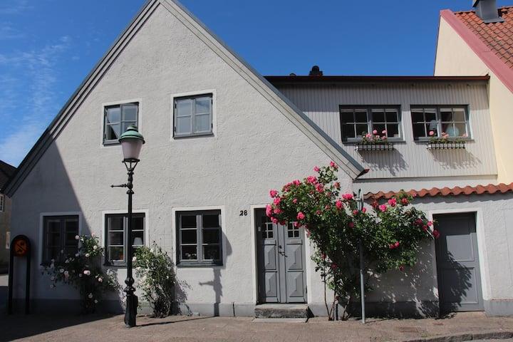 Gatuhus i centrala Ystad