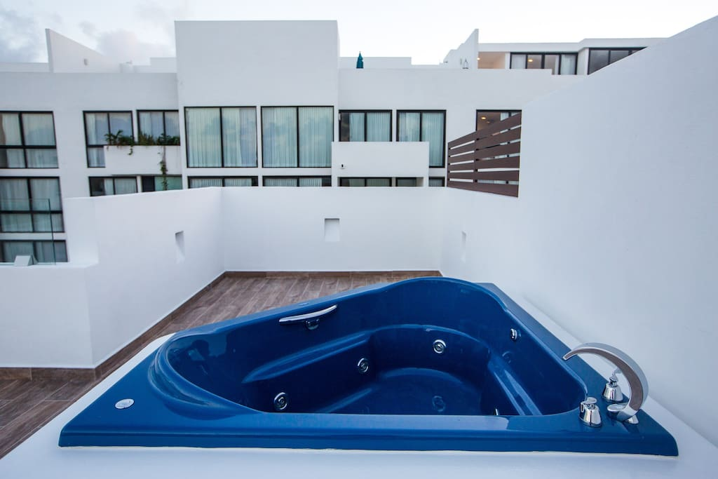 Private rooftop with Jacuzzi