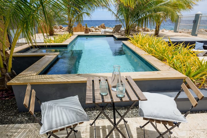 Private Oceanfront  luxurious city villa with pool
