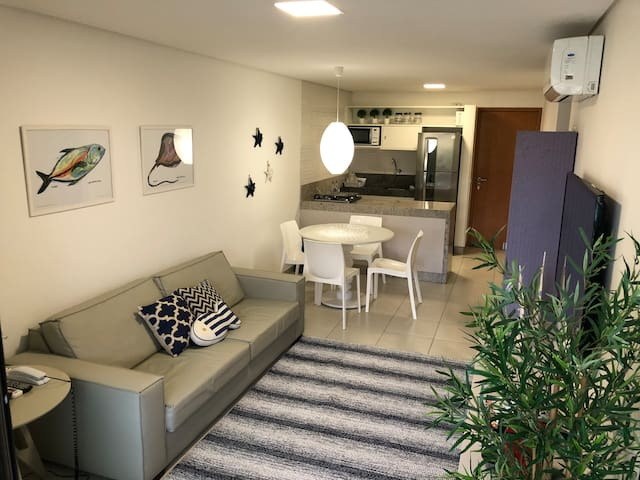 Flat Luxo 2qtos Carneiros Beach Resort com Wi-Fi