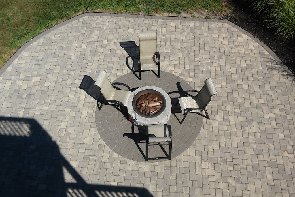 Private fire pit access from front door or first floor deck