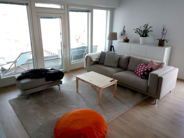 Helsinki 87sqm, 2 Bedroom, Sauna, Roof BBQ Terrace