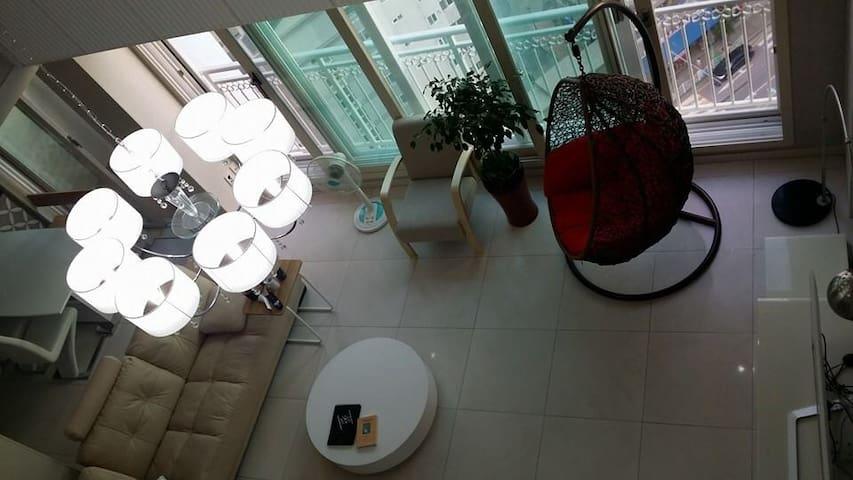 제이든 게스트하우스 1인1실 목포/남악/최상층아파트. 루프탑  에서 미니캠핑을!
