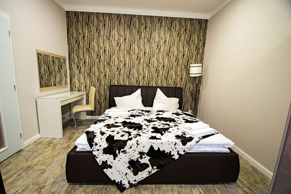 1st bedroom with double bed for 2 persons