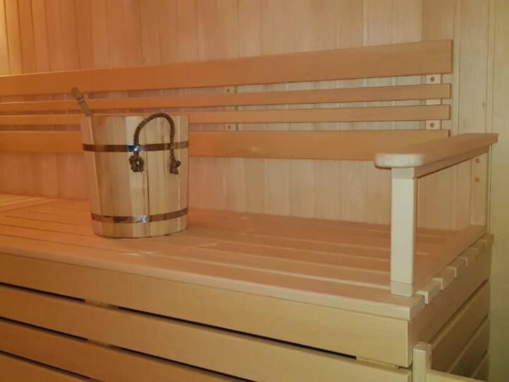 Two-floor room with sauna and pool. Laguna Beach Club