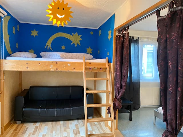 Cool bed for kids and Play-space
