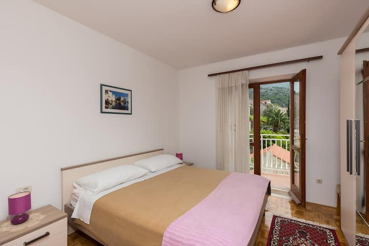 Apartments Bujak - Comfort One Bedroom Apartment with Balcony and Sea View