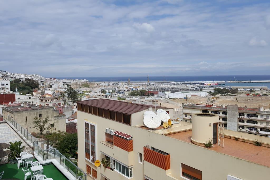 panorama agréable sur le baie de Tanger