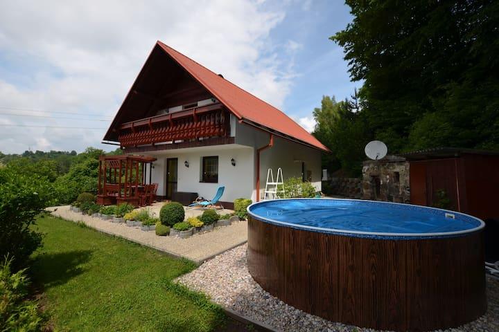 Modern Mansion in Benešov u Semil with Pool