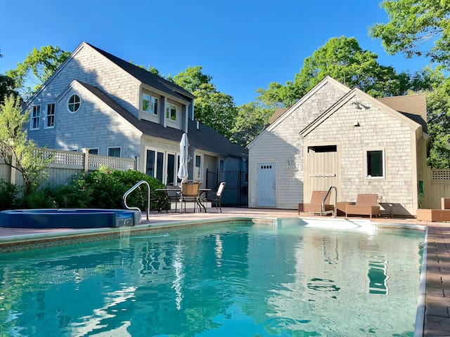 Charming updated New Seabury home with heated pool