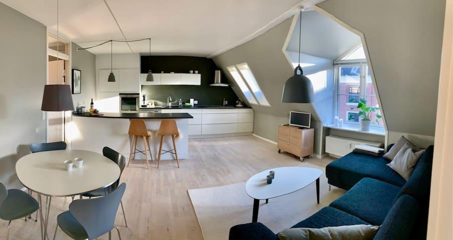 Cozy, modern penthouse near city center & metro