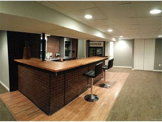 State-of-the-art basement with wet bar/sleep space