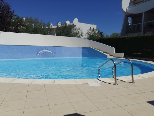 Studio Grande-Motte avec piscine (plage a 150m)