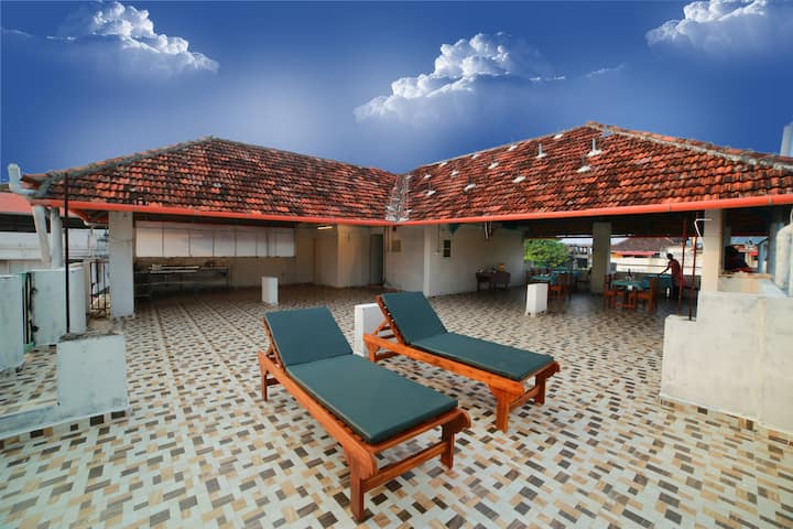 Cozy boutique room at La Lune Fort Cochin