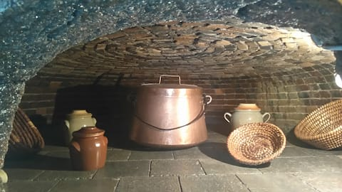 Unusual rental in a traditional bread oven