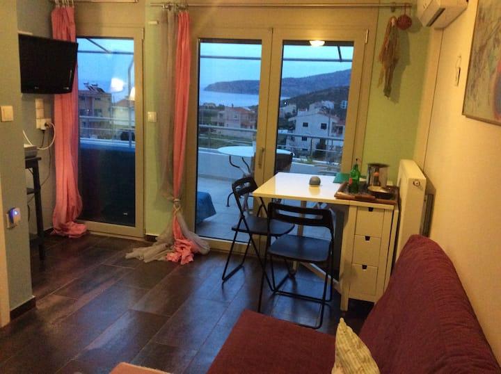 Sunset at Cape Sounio (Suite 1 bedroom 1 lroom )