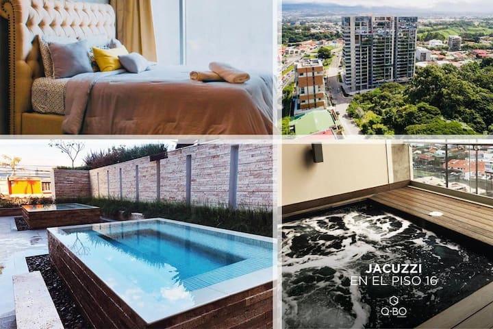 2 bedroom Apartment + Breakfast + Skyview Condo ★