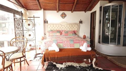 Habitación suite matrimonial  en Lago San Pablo