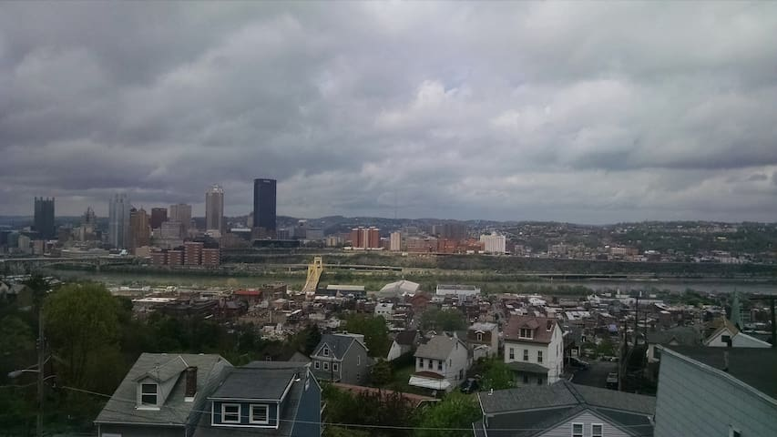 You can see from Heinz Field to the Cathedral of Learning