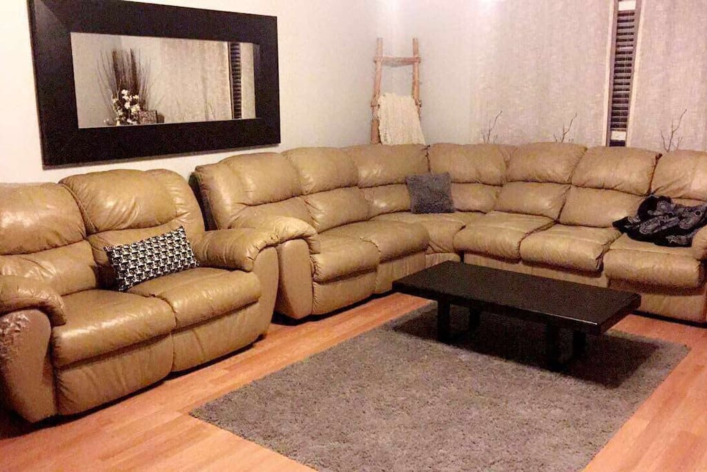 Sectional in living room